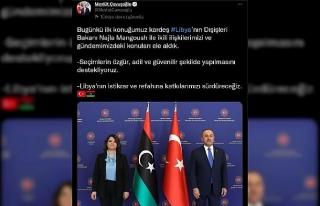 Bakan Çavuşoğlu, Libya Dışişleri Bakanı Manguş...