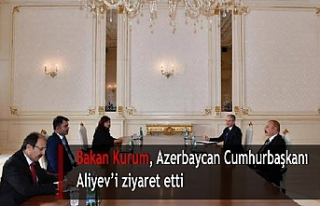 Bakan Kurum, Azerbaycan Cumhurbaşkanı Aliyev'i...