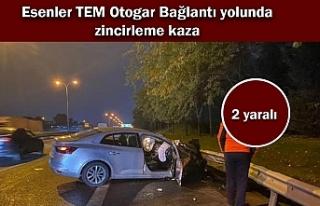 Esenler TEM Otogar Bağlantı yolunda zincirleme kaza;...