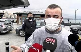 Fatih'te yolcu seçerken yakalanan taksicilere...
