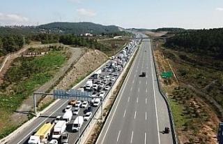 Havadan fotoğraflarla // Beykoz Kuzey Marmara Otoyolu'nda...