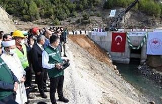 Pamukluk Barajı'nda su tutma işlemi Bakan Pakdemirli'nin...