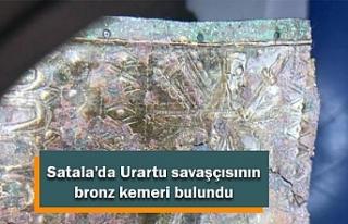 Satala'da Urartu savaşçısının bronz kemeri...