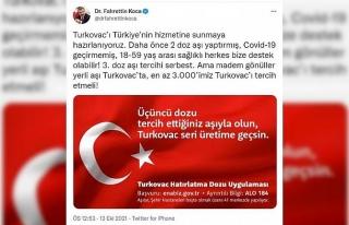 Turkovac için 3'üncü doz klinik çalışma;...
