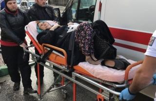 Bursa'da hastane önünde motosiklet kazası
