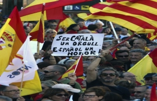 İspanya'da birlik yanlıları toplandı