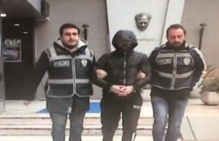 Balyozlu hırsız kameralara yakalandı