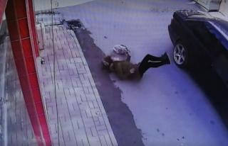 Bura'da hamile kadına otomobil çarptı