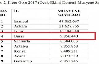 3 milyonluk Bursa'da 1 milyon hasta