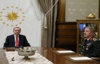 Cumhurbaşkanı Erdoğan, Orgeneral Akar'ı kabul...