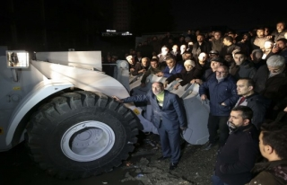 Nakliyeciler Sitesi'ndeki eyleme polis müdahalesi