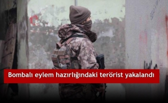 Bombalı eylem hazırlığındaki terörist yakalandı