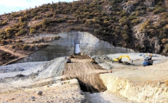 Amasya'da Beden Barajı yükseliyor