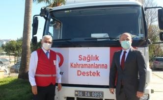 Kızılay'dan sağlık kahramanlarına destek