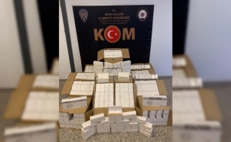 Sivas'ta 140 bin adet gümrük kaçağı makaron ele geçirildi