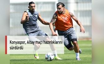 Konyaspor, Altay maçı hazırlıklarını sürdürdü