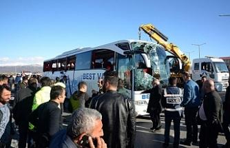 Feci otobüs kazası: 34 yaralı