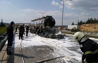 Tanker faciası! yanarak öldü!