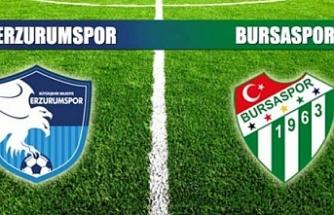 Bursaspor Erzurumspor'u ağırlıyor