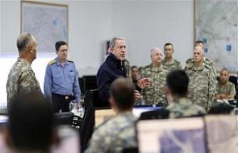 Bakan Akar: ABD'nin gözlem noktasına atış söz konusu değil / Fotoğraflar