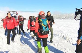 Kaybolan dağcıları arama çalışmaları 5'inci günde sürüyor