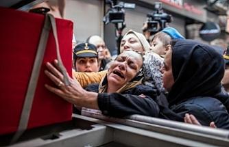 Şehit Astsubay Üstçavuş Esma Çevik'in cenazesi evine getirildi!