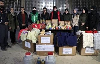 Afrinli kadınlardan Elazığ'a yardım