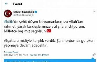Bakan Çavuşoğlu: Alçaklara misliyle karşılık verdik
