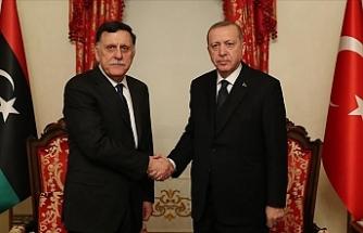 Başkanlık Konseyi Başkanı Sarraj'ı kabul etti