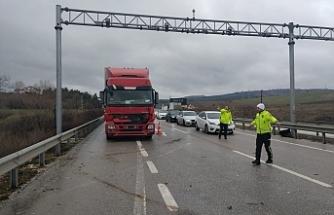 İnegöl'de korkutan trafik kazası!