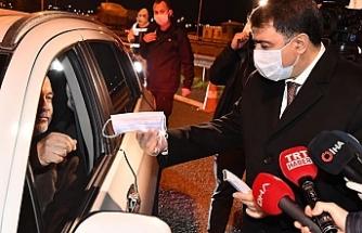 Ankara Valisi Şahin, şehir girişlerindeki kontrol noktalarında iş başında!