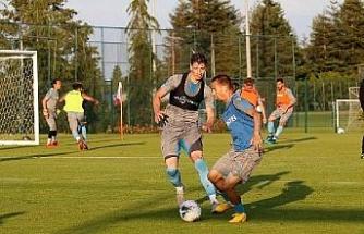 Trabzonspor, günün ikinci antrenmanını yaptı