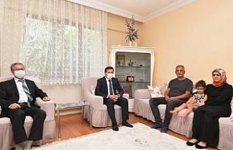 Başkan Kılca ve Kaymakam Parlar'dan 15 Temmuz gazilerine ziyaret