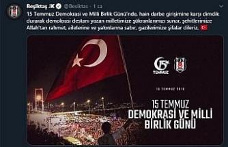 Beşiktaş, Fenerbahçe, Galatasaray ve Trabzonspor'dan, '15 Temmuz Demokrasi ve Milli Birlik Günü' mesajı