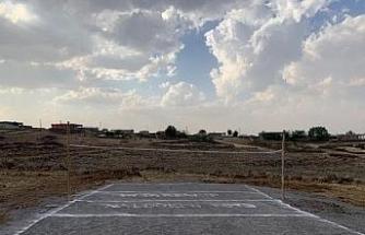 Diyarbakır'a ilk köy plaj voleybol sahası yapıldı