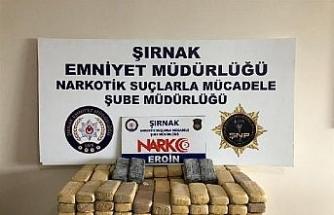 Şırnak'ta terörün finans kaynaklarına operasyon: 82 kilo eroin ele geçirildi