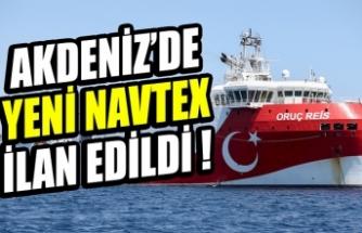 Akdeniz'de yeni Navtex ilan edildi!