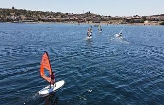 Ayvalık windsurfte de iddialı