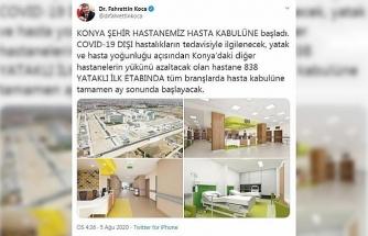 Bakan Koca: Konya Şehir Hastanemiz hasta kabulüne başladı