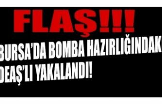Bursa'da bombalı eylem hazırlığında olan DEAŞ terör örgütü mensubu terörist yakalandı.