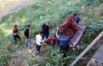 Çankırı'da çaya atlayan kadını itfaiye kurtardı