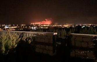 Çeşme'de otluk alanda yangın paniği