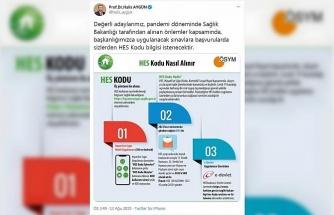 ÖSYM Başkanı Aygün: Sınavlara başvurularda HES kodu istenecek