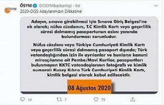 ÖSYM'den DGS adaylarına 'saat' uyarısı