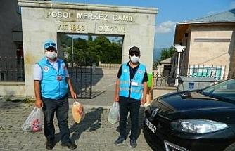 Posof'ta sosyal vefa destek devam ediyor