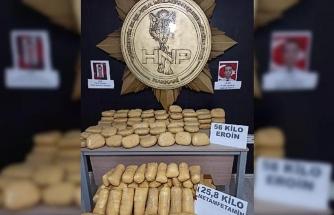 Şehit polislerin adının verildiği operasyonda 81.8 kilogram uyuşturucu yakalandı