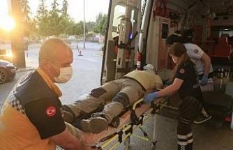 Yamaç paraşütü yaparken metrelerce yükseklikten düşüp, yaralandı