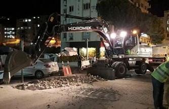 Zafer Meydanı'nda asfaltlama çalışmaları başladı
