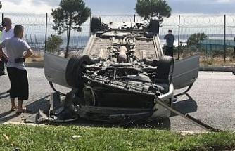 Beylikdüzü'nde sıkışmalı kaza: 1 yaralı