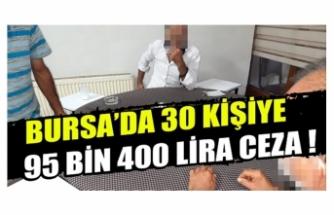 Bursa İnegöl'de kahvehanelerdeki 30 kişiye ceza